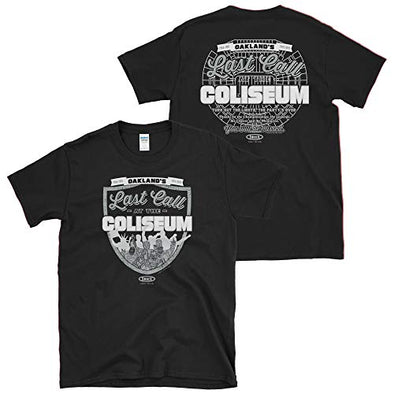 Las Vegas (Oakland) Pro Football Apparel | Shop Unlicensed Las Vegas (Oakland) Gear | Last Call at the Coliseum Shirt