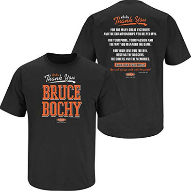 San Francisco Baseball Fans. Thank You Bruce Black T-Shirt (Sm-5X)