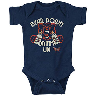 Unlicensed Chicago Pro Football Baby Bodysuits or Toddler Tees | Bear Down Drink Up