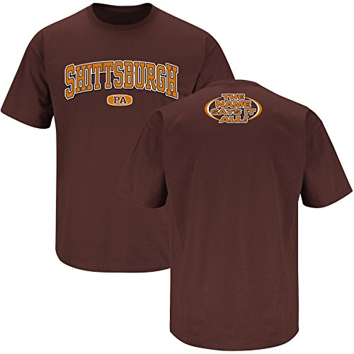 Smack Apparel Cleveland Football Fans. Shittsburgh, PA Brown T-Shirt (S-5X)