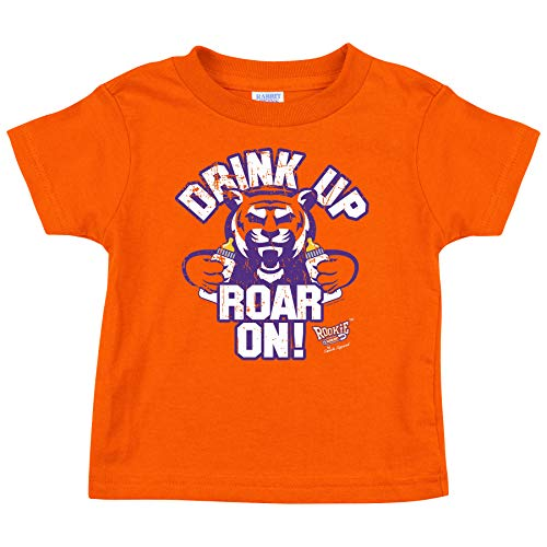 Clemson Football Fans. Drink Up Roar On! Orange Onesie (NB-18M) or Toddler Tee (2T-4T)