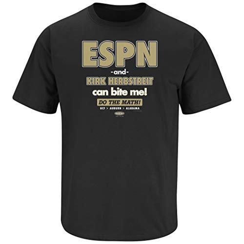 Central Florida Football Fans. ESPN Can Bite Me Black T-Shirt (Sm-5X)