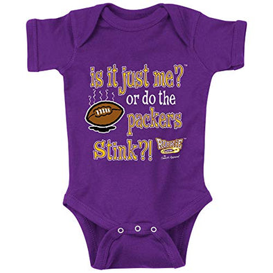 Unlicensed Minnesota Pro Football Baby Bodysuits or Toddler Tees | Do the Packers Stink?! (Anti-Green Bay)