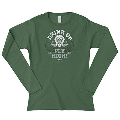 Philadelphia Pro Football Unlicensed Ladies Apparel | Drink Up Fly High! Ladies Shirt