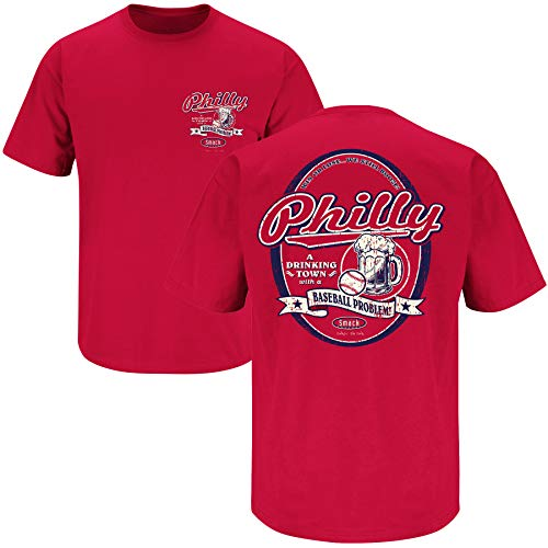 Unlicensed Philadelphia Baseball Gear | Philly Drinking Town with a Baseball Problem Shirt