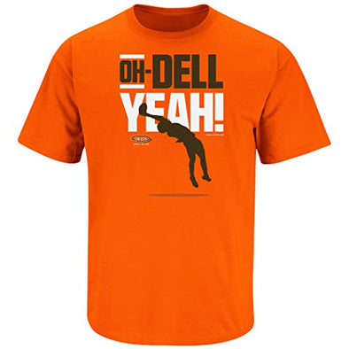 Cleveland Pro Football Fans. Oh-Dell Yeah Orange T-Shirt