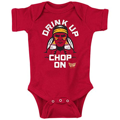 Kansas City Football Fans. Drink Up Chop On! Baby Onesie or Toddler T-Shirt