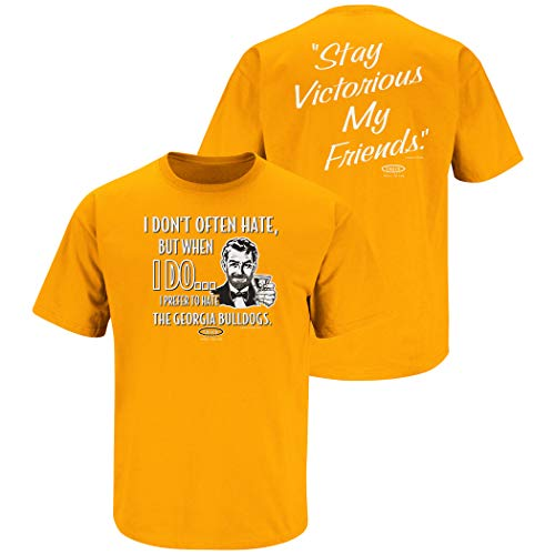 Smack Apparel Tennessee Football Fans. Stay Victorious (Anti-Georgia). Orange T-Shirt (Sm-5X)