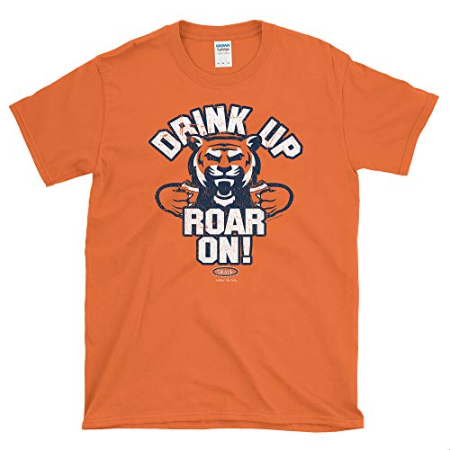 Smack Apparel Auburn Football Fans. Drink Up Roar On! Orange Soft Style T-Shirt (Sm-5x)