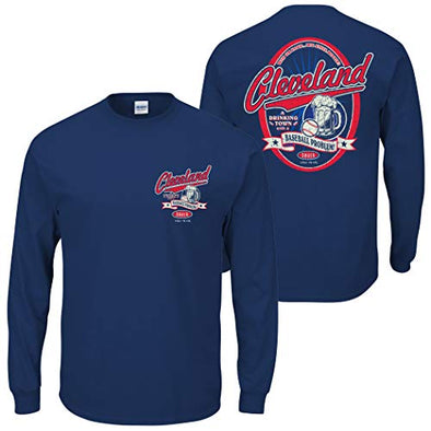 Smack Apparel Cleveland Baseball Fans. A Drinking Town with a Baseball Problem. Navy T-Shirt (S-5x)