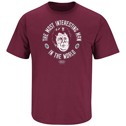 Smack Apparel Washington State Football Fans. Most Interesting Man Garnet T-Shirt (Sm-5X)