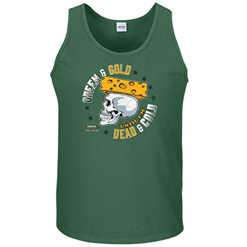 Green Bay Football Fans. Green and Gold Until I'm Dead and Cold Shirt, Hoodie, or Tank Top