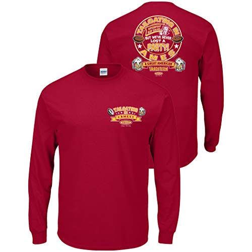 Smack Apparel Iowa State Football Fans. Tailgating in Ames. Red T-Shirt (Sm-5X)