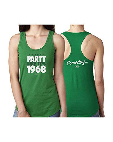 New York (NYJ) Pro Football Unlicensed Ladies Apparel | I Wanna Party Like It's 1968 Ladies Shirt