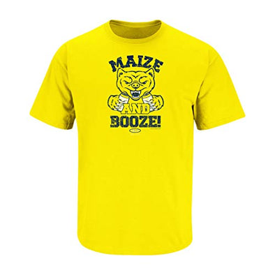 Michigan College Sports Apparel | Shop Unlicensed Michigan Gear | Maize and Booze Shirt
