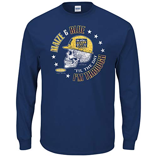Michigan College Sports Apparel | Shop Unlicensed Michigan Gear | Maize & Blue Til The Day I'm Through Shirt
