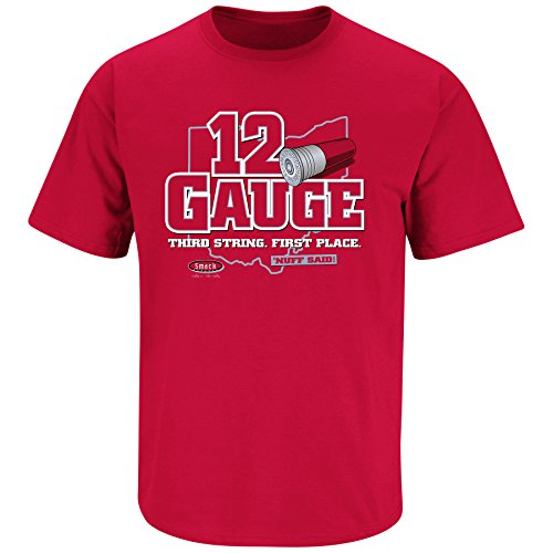 Smack Apparel Ohio State Buckeyes Fans. 12 Gauge Red T-Shirt (S-5X)