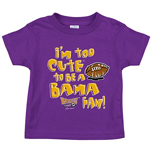 LSU Football Fans. I'm Too Cute Purple (Anti-Bama) Onesie (NB-18M) & Toddler Tee (2T-4T)