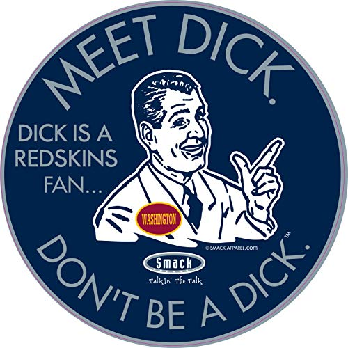 Dallas Football Fans. Don't be a D!ck (Anti-Redskins). Navy Sticker