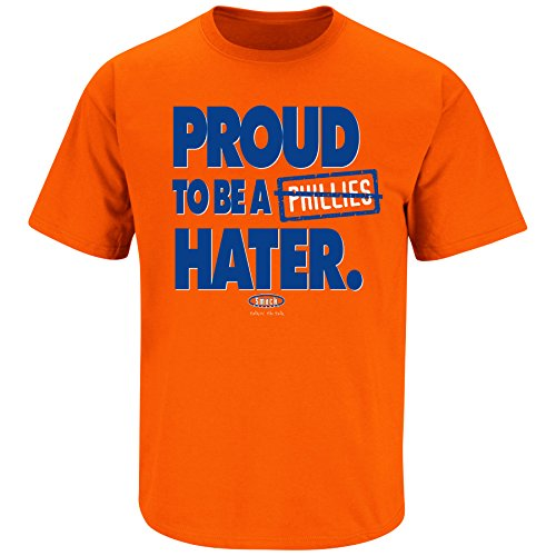 Smack Apparel NY Baseball Fans. Proud to Be A Hater Orange T-Shirt (Sm-5x)