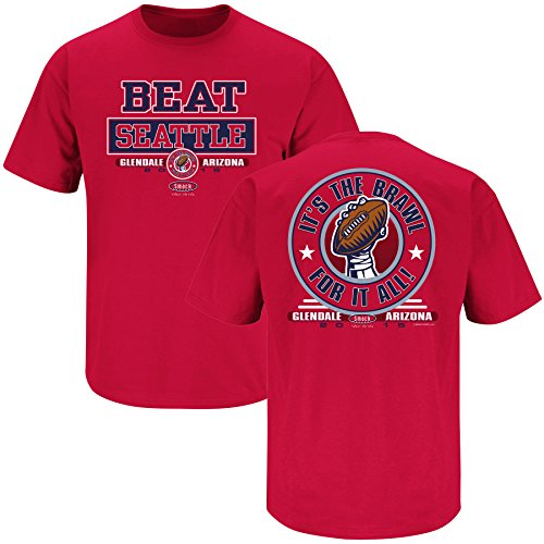 Smack Apparel NE Football Fans. Beat Seattle Red T Shirt (S-5X)