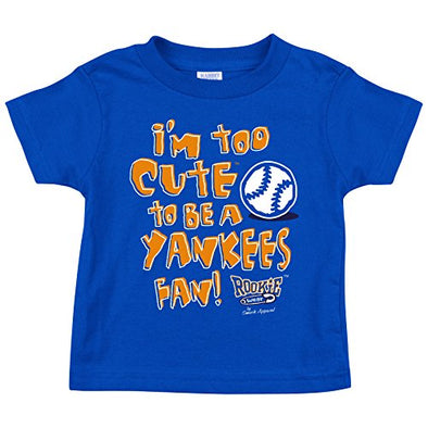 NY Baseball Fans. Too Cute Royal Onesie (NB-18M) Or Toddler Tee (2T-4T)
