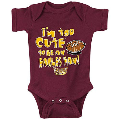 Washington Football Fans | Too Cute to Be A Eagles Fan | Baby Bodysuit or Toddler T-Shirt