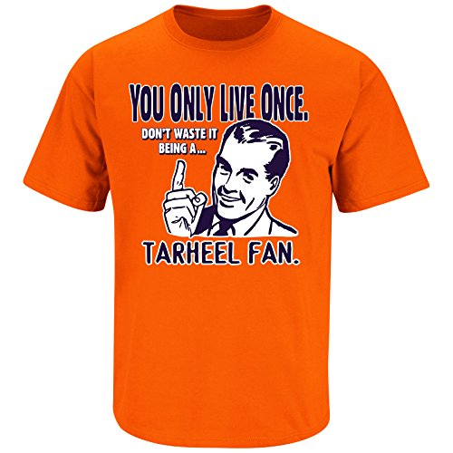 Smack Apparel Virginia Football Fans. YOLO. Don't Waste It Being a Hokies Fan Navy T Shirt (Sm-3X)