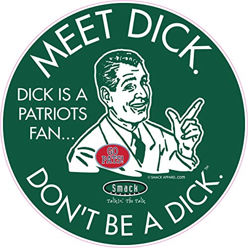 NY Football Fans. Don't be a D!ck (Anti-Patriots). Forest Sticker