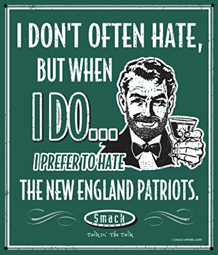 New York (NYJ) Pro Football Gear | Shop Unlicensed New York (NYJ) Gear | I Prefer to Hate the New England Patriots Man Cave Sign