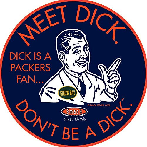 Chicago Pro Football Apparel | Shop Unlicensed Chicago Gear | Don't Be a Dick (Anti-Packers) Sticker
