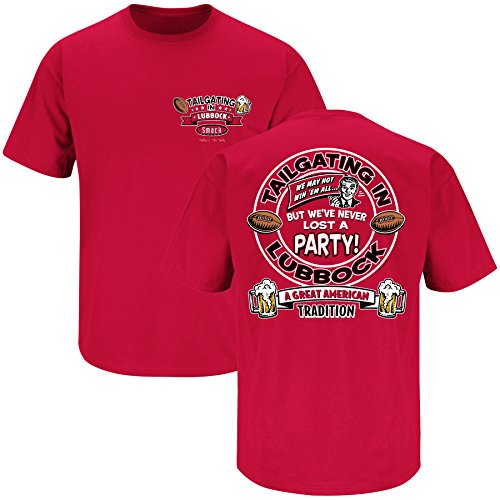Smack Apparel Texas Tech Football Fans. Tailgating in Lubbock Red T-Shirt (SM-3X)