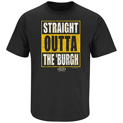 Pittsburgh Pro Football Apparel | Shop Unlicensed Pittsburgh Gear | Straight Outta the Burgh Shirt