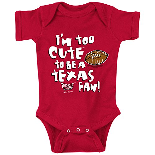 Texas Tech Red Raiders Fans. Too Cute Red Onesie (NB-18M) & Toddler Tee (2T-4T)