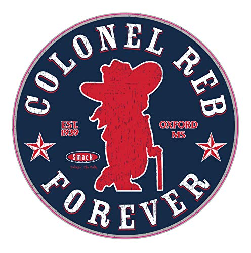 Ole Miss Football Fans. Colonel Reb Forever. Navy Sticker