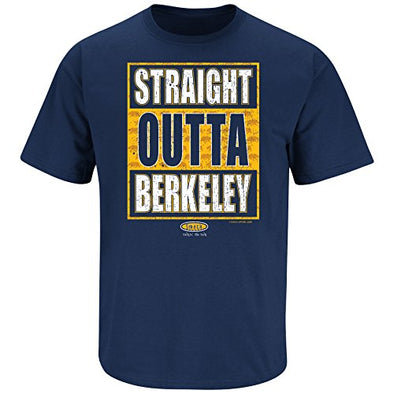 Smack Apparel Cal Football Fans. Straight Outta Berkeley Navy T-Shirt (S-5X)