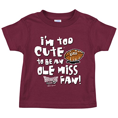 Mississippi State Bulldogs Fans. Too Cute (Anti-Ole Miss) Onesie or Toddler T-Shirt