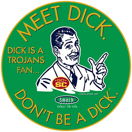 Notre Dame Football Fans. Don't be a D!ck (Anti-USC). Green Sticker