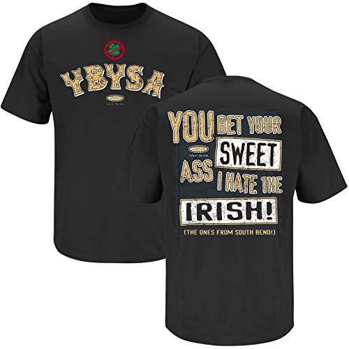 Purdue Boilermakers Fans. YBYSA I Hate the Irish Black T-Shirt (S-3X)