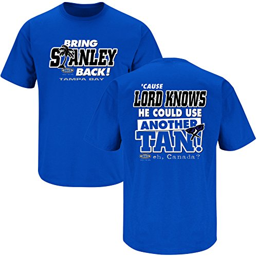 Tampa Bay Hockey Fans. Bring Stanley Back Royal Blue T Shirt (Sm-5X)
