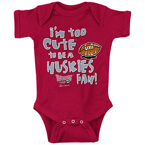 Smack Apparel Washington State Football Fans. Too Cute Onesie (NB-18M) or Toddler Tee (2T-4T)