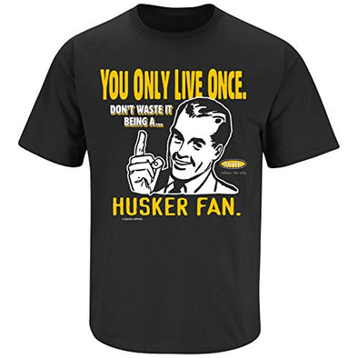 Iowa Football Fans. YOLO. You Only Live Once Black T-Shirt (S-3X)