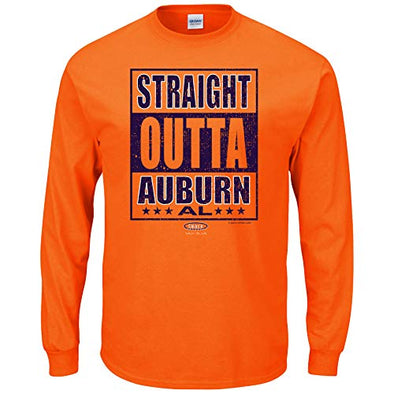 Smack Apparel Auburn Football Fans. Straight Outta Auburn Orange T-Shirt (Sm-5X)