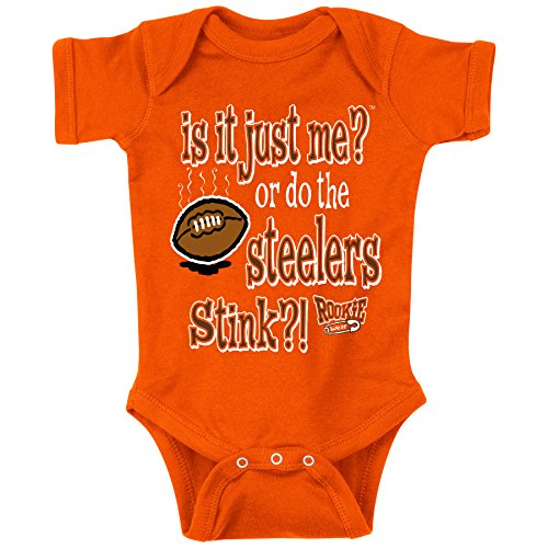 Unlicensed Cleveland Pro Football Baby Bodysuits or Toddler Tees | Do the Steelers Stink?! (Anti-Pittsburgh)