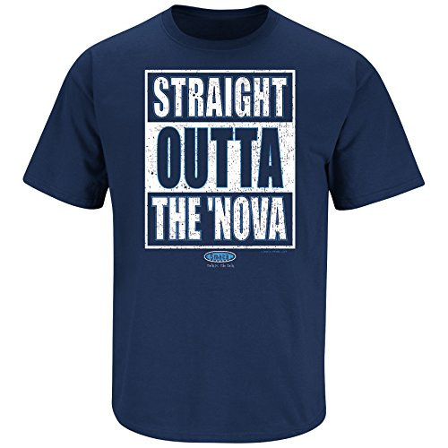 Smack Apparel Villanova Fans. Straight Outta The 'Nova. Navy T Shirt (Sm-5X)