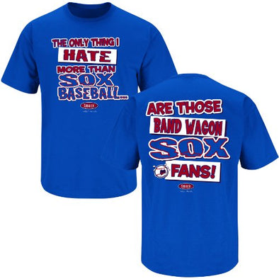 Chicago Cubs Fans. Hate Sox Baseball Blue T-Shirt (S-3X)