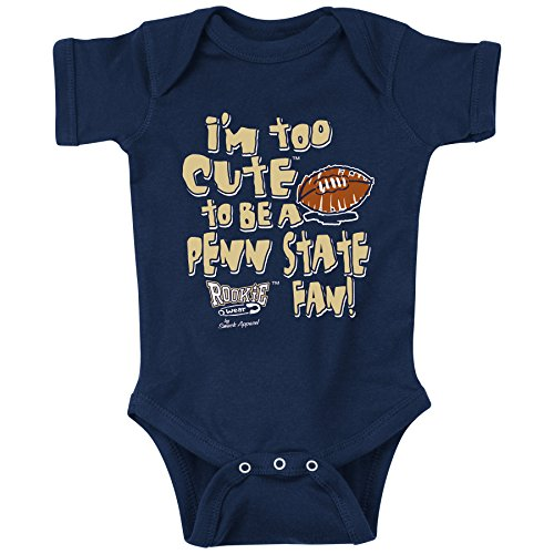 Pittsburgh Panthers Fans. Too Cute to be a Penn State Fan. Onesie or Toddler T-Shirt
