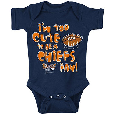 Unlicensed Denver Pro Football Baby Bodysuits or Toddler Tees | Too Cute (Anti-Chiefs)