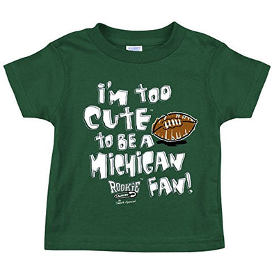 Michigan State Football Fans. Too Cute Onesie or Toddler T-Shirt