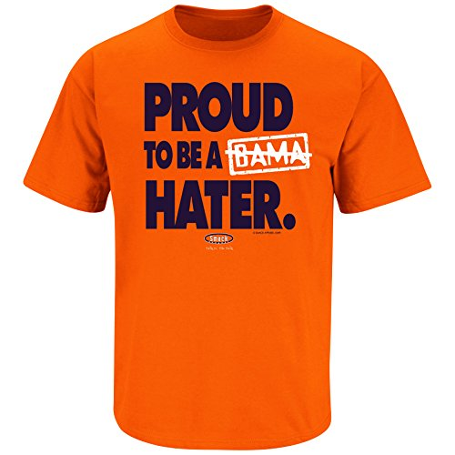 Smack Apparel Auburn Football Fans. Proud to Be a Hater. (Anti-Alabama) Orange T Shirt (Sm-5X)